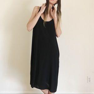 Anthropologie Alasdair Black Silk Maxi Tank Dress